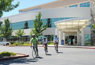 Kaiser Permanente employees take their biking and their wellness seriously. From left, Dr. Anthony Retodo, nurse Lorin Bacon and Eric Volkman, administrative service supervisor.