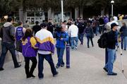 Fans arrive Wednesday night at Power Balance Pavilion for the final Kings game of the season.