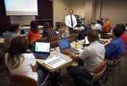 Larry Bienati teaches a class for the Sacramento State Executive MBA program.