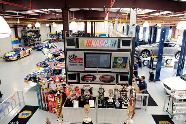 Bill McAnally Racing and Napa Auto Care Center in Antelope was started as an afterthought to provide McAnally's employees with steady jobs during the racing offseason.