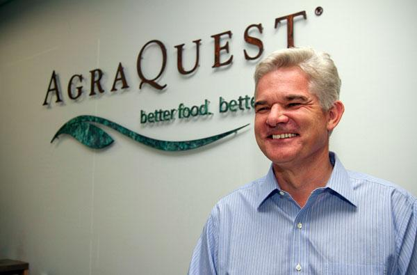 CEO Marcus Meadows-Smith's AgraQuest makes biopesticides that provide environmentally friendly methods of protecting crops from pests.