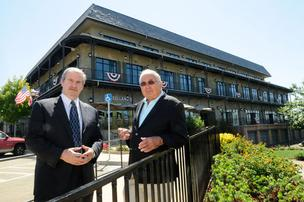 El Dorado Hills Town Center has added new tenants. Kevin Nagle, left, an El Dorado Hills business executive and resident, joined developer Tony Mansour as an owner of the center a year ago.