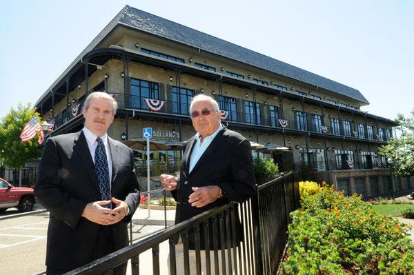 El Dorado Hills Town Center owners Kevin Nagle, left, and Tony Mansour have a new tenant — LP Capital Advisors.