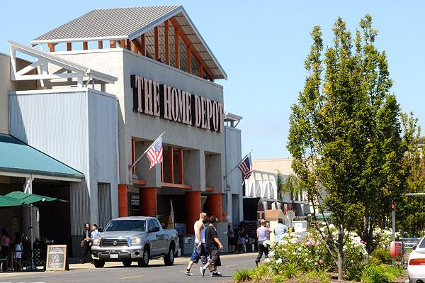 Shoppers at the Natomas Marketplace, a key Sacramento retail area.