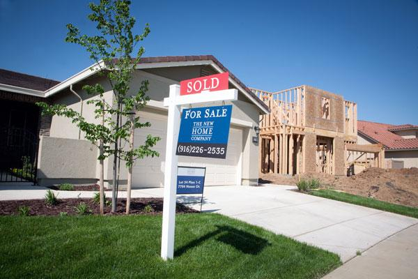 Area residential real estate observers say there is an upswing in the construction and purchase of new homes, like these being built in Elk Grove by The New Home Co.