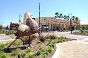 This huge horse sculpture by Auburn artist J. Randall Smith isone of four decoratingPalladio at Broadstonein Folsom.