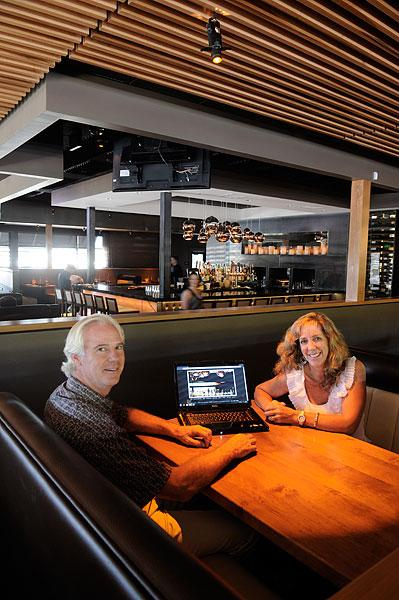Mark and Karoline Platt, owners of Land Ocean New American Steak House in Folsom, interact with customers by using social media and email blasts but also put emphasis on having a website.