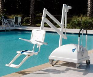 Pool lifts, which range in price from $4,000 to $9,000, can be an expensive addition for hotels, which are required by law to have them.