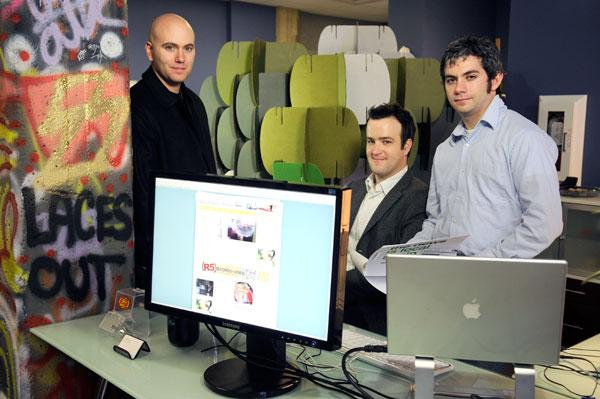 Sacramento Press co-founders Ben Ifeld, left, and Geoff Samek, right, are seen in this 2008 photo with software developer Joel Rosenberg.