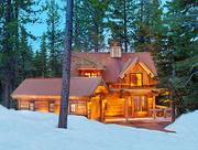 Many homes designed by Sandbox Studio for Mark Tanner Construction, such as this one in Martis Camp, aim for the rustic look but offers many  luxurious features.