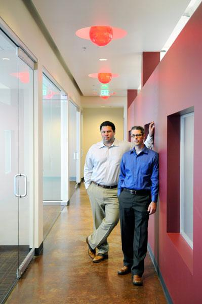 Scott & Baldwin CPAs partners Mark Scott, left, and Steven McCormick used an SBA loan to buy a new office. Their mortgage payment is now less than half of what they paid in rent.