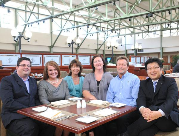 Sheraton Grand Sacramento general manager Richard Hill, left, and HR director Mellissa Barcelo, second from left, work with other Sheraton directors to create a supportive work environment with competitive benefits and opportunities for career advancement.
