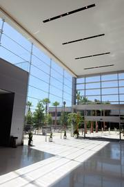 The building's design brings the great outdoors inside.