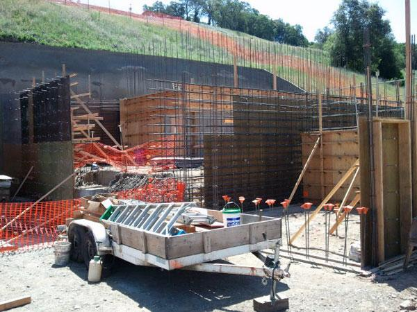 Construction has begun on a $4.5 million rock-crushing mill at the Lincoln Mine in Amador City.