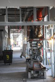 The space between floors will be packed with wiring and other infrastructure of amodern hospital.