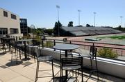 The Well, which is all about fitness, provides a great view of the football field and track.