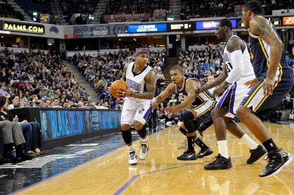 Sponsor advertisements and corporate suites at Power Balance Pavilion, seen at this Feb. 28 Kings game against the Utah Jazz, are soon up for renewal.