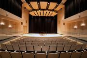 The recital hall at Three Stages seats 95 and is filled with sophisticated features for controlling acoustics.
