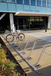 You know you're in bicycle-crazy Davis when you see a large bike rack in front of the urgent care entrance.