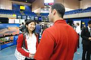 Universities have had fewer employers visit campus in recent years, but they were on hand at last spring's job fair at UC Davis.