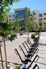 To accomodate the favorite mode of transportation on campus — bicycling — the Tercero dorms have racks for 600 bikes.