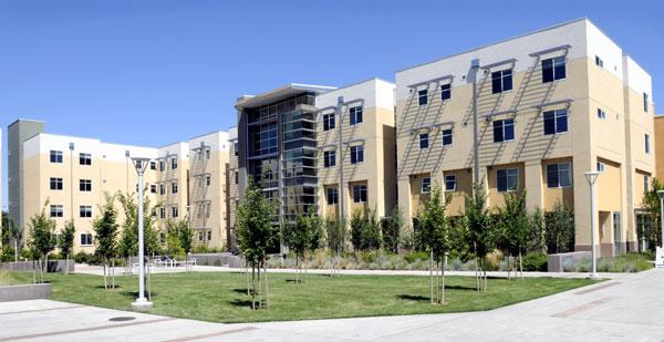 The Tercero II dorms at UC Davis boast a number of energy saving features including one set of louvers to push hot air out and another to let cool air inside.