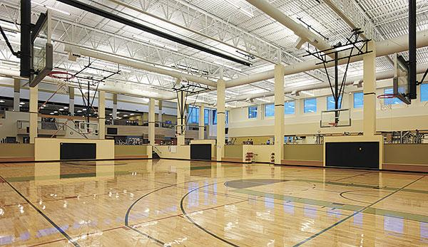 Roseville's VillaSport club would include an NBA-sized basketball court, like this one that's featured in one of the company's other clubs.