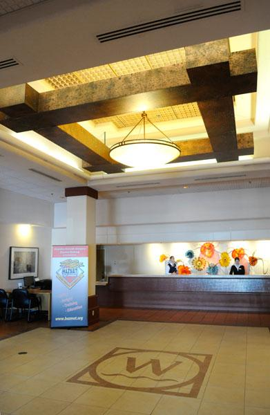 Owner Kumar Sharma has been updating the Woodlake Hotel, including a remodeled entryway.