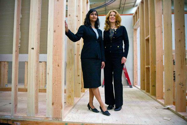"""Zeta Communities is building 23 """"SmartSpace"""" apartments at a factory at McClellan for use in dense urban areas such as San Francisco. Company founders are Shilpa Sankaran, left, and Naomi Porat."""