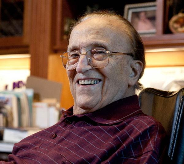 Sacramento-area developer icon Joe Benvenuti died Wednesday at age 91. The business community has been sharing remembrances of him. This image was taken in 2011 to accompany a profile of Benvenuti and longtime friend and fellow developer Buzz Oates.
