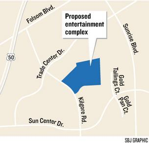developers propose building a $28 million entertainment center in 73,000 square feet next to the police station on Kilgore Road. The center would include movie theaters, bowling, laser tag, a ropes course, video arcades, a themed restaurant and other amus
