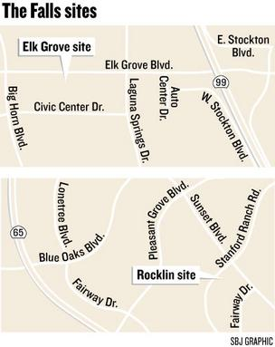 Work has begun on two side-by-side, identical event centers in Elk Grove, with the developer shooting to open them by the end of the year. Similar event centers are planned in Rocklin, but they will have a different design.
