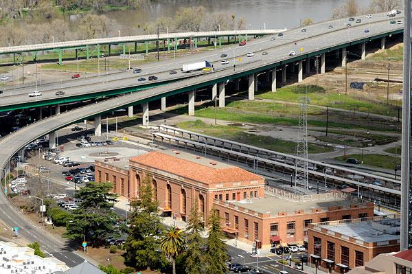 The historic train depot at the downtown railyard is being renovated with a $15 million federal Department of Transportation grant and $15 million in state and local funds.