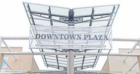 Downtown Plaza sign