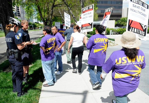 Early this week, about 1,300 janitors in the Sacramento region who are members of Service Employees International Union-United Healthcare Workers West will finish casting their ballots on a new four-year contract with more than a dozen building maintenance contractors. Protracted contract negotiations became heated, with a rally on Capitol Mall that resulted in a number of arrests.