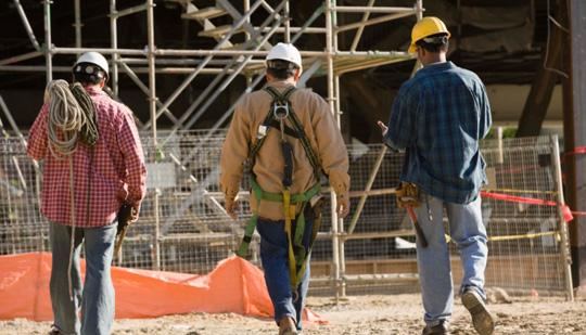 Construction employment in Texas rose 2.8 percent over the last year.