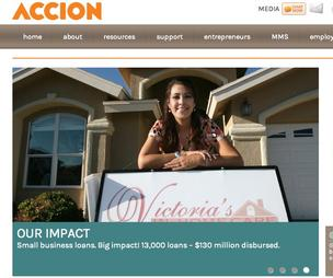 Sweb Development has revamped ACCION Texas' website to make it easier for entrepreneurs and small business owners to apply for financing.