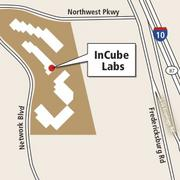 A map of InCube Labs' facility in San Antonio.
