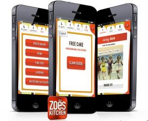 Zoës Kitchen has created a new app that will help diners watch their waistlines.