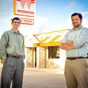 Keith McLellan and Scott Stephens are the social media managers for Whataburger.