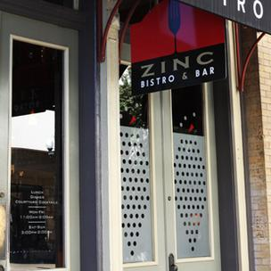 10. Zinc Bistro & Wine Bar | 4 stars with 165 reviews