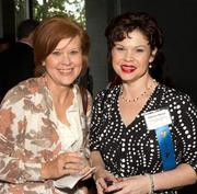 Health Care Hero Patricia Manea, a nurse with the Cancer Care Centers of South Texas, and a friend mix and mingle with guests at the McNay Art Museum.