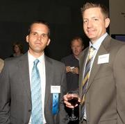 Health Care Hero – Innovator: Ryan Blanck, Center for the Intrepid, and Daniel Stinner at the 2012 Health Care Heroes awards reception on May 15th.