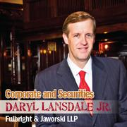 Daryl Lansdale, partner-in-charge of the San Antonio office of Norton Rose Fulbright, says his firm has won the pro bono award from the San Antonio Bar Association.