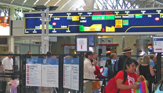 San Antonio International Airport has installed body scanners to check for explosives and sharp metal objects.