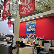 Rackspace departments are divided into cereal brands, sci-fi movies and game shows.