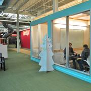 Private meeting spaces are sprinkled all over Rackspace's campus.