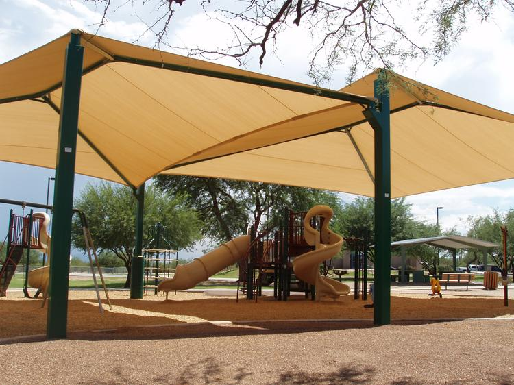 Shade 'N Net Texas is offering a free canopy to the elementary or middle school that can raise the most food for the San Antonio Food Bank.
