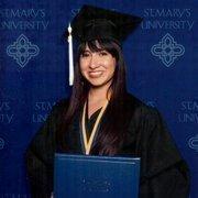 Lynzee Villafranca's graduation photo from St. Mary's.