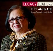 Texas Secretary of State Hope Andrade, who is resigning this week, has built a strong track record in the San Antonio business community.